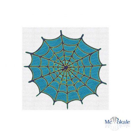 Bestickung T-Shirt Spinnennetz