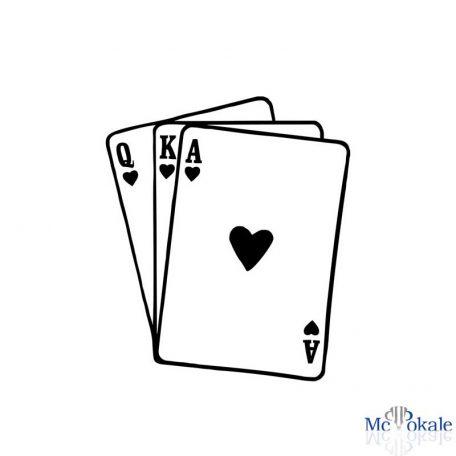Flexdruck T-Shirt 3 Pokerkarten