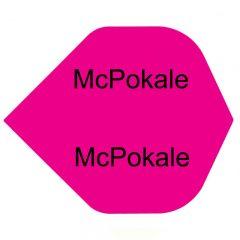 Bedruckte Poly Flights Standard Pink (20 Sets)