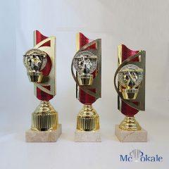 3er Serie Rot – Gold Trophäe mit Dartslowhand Figur