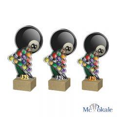 3er Serie 3D Billiard Trophäe Acryl