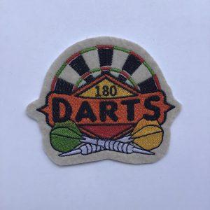 """Aufnäher/Patch """"DARTS 180"""" auf Filz"""