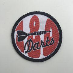 """Aufnäher/Patch """"DARTS 180"""" auf Stoff"""