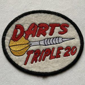 "Aufnäher/Patch ""Darts Triple 20"" auf Filz"