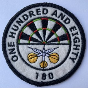 """Aufnäher/Patch """"One Hundred and Eighty"""""""